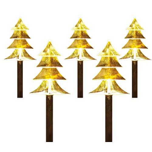 Enkomy 5 Piezas LED Luces de Camino de árbol de Navidad, lámpara de jardín Luces Decorativas de Paisaje para Fiesta de Navidad decoración de Fiesta de Boda