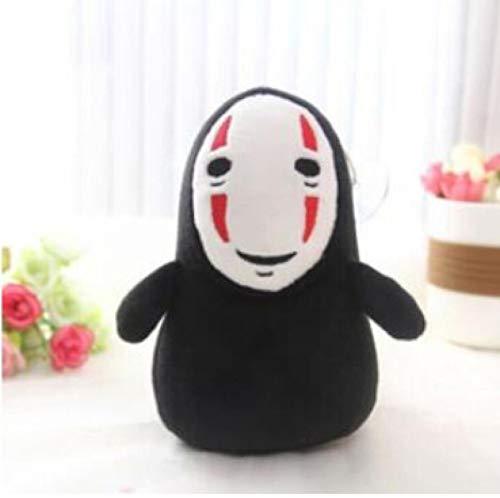 siqiwl Juguetes suaves 15cm colgante hombre sin rostro negro felpa coleccionable anime personaje cadena bolsa juguetes muñeca rojo