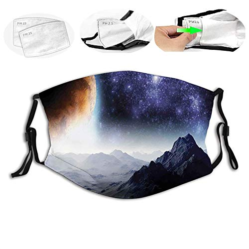 Adjustable mask Science Fiction of Galaxy Nature Milkyway Atmosphere Planet Abstract,Mouth Cover for Women,Face Mask Reusable Washable Cloth for Men S
