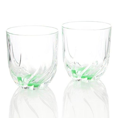 RCR Crystal Toscana Lot de 2 Verres en Cristal Vert