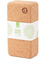 Yogablok van kurk, 70 mm, 100% natuurkurk, universeel yogablok, ideaal voor professionals en beginners, milieuvriendelijk en duurzaam, perfect voor gym, fitness, asanas, pilates, hatha, meditatie