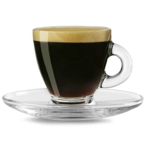 12 Pc Clear Base Tea Coffee Espresso Cups Set Cup Mug Glassware Dining Gift 95ml