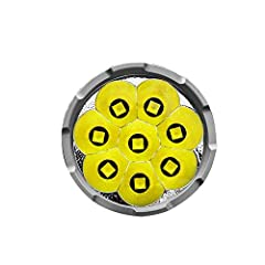 Utilizes 8 pieces of American CREE XHP70 2nd generation LEDs, with a lifespan of up to 50000 hours and a maximum output of 32000 lumens. Only used for Imalent DX80 flashlight