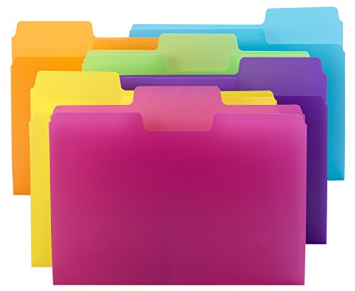 Smead SuperTab File Folder, Oversized 1/3-Cut tab, Letter Size, Poly, 18 per Pack (10515)