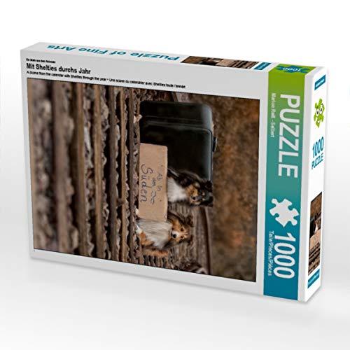 CALVENDO Puzzle Mit Shelties durchs Jahr 1000 Teile Lege-Größe 48 x 64 cm Foto-Puzzle Bild von Marion Reiß - Seibert