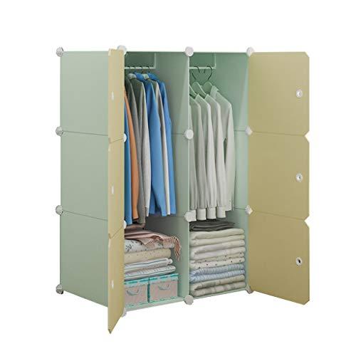 Jurass Tragbarer Kleiderschrank for hängende Kleidung - Kunststoff, Kombinationskleiderschrank aus Harz, modulare Schränke, platzsparend - L76cm × B47cm × H111cm