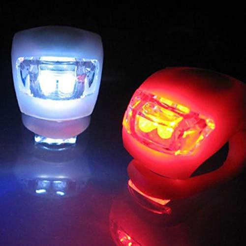 TriLance 2PC Fahrradlicht, Vorderes Und Hinteres Silikon LED-Fahrradlichtset Mit Batterie Wasserdichte Nebelscheinwerfer für Fahrrad, LED Fahrradlicht Nachtfahr sicherheitswarn rücklicht (2PC)