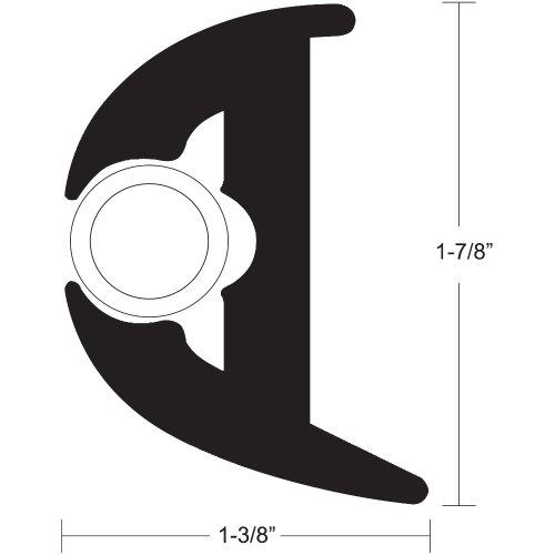 "Taco Metals Flexible Vinyl Rub Rail Kit Size: 1.88"" H x 1.38"" W x 600"" D -  Taco Metals Inc., V11-3426BWK50-2"