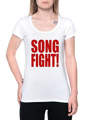 Song Fight T-Shirt Damen Weiß T-Shirt Women's White
