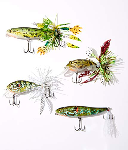 Reno Bait Company Monster Big Fish Kit, Bass Fishing Kit, Fishing Lures for Bass, Includes Topwater and Frog Crankbait Bass Fishing Lures