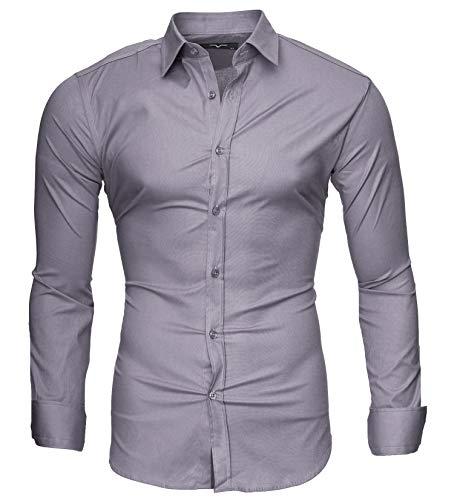 ZODOF Hombre Moda Impreso Camisas de Manga Larga Slim Tops Blusa Camiseta Business Casual Camisas de Vestir Formales Camisas Hombre