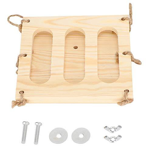 Rack Alimentador de heno Rack, Plegable Soporte de Hierba para Mascotas de Madera Manger Dispensador...