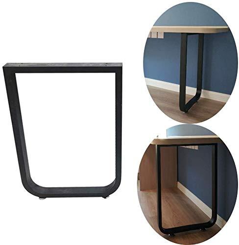 AZWE Schwarz Modern Bartisch Bein, 72cm Industry Dinner Table Leg Metall Stahl Tischbeine Diy Möbel, Schutzboden, 1Pcs,65 * 72cm