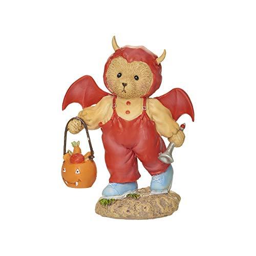 Roman Cherished Teddies Scarlett Halloween Teddy Fledermaus Figur 9,5cm H Harz und Wollastonit Langlebig Sammlerstück Dekoration Deko