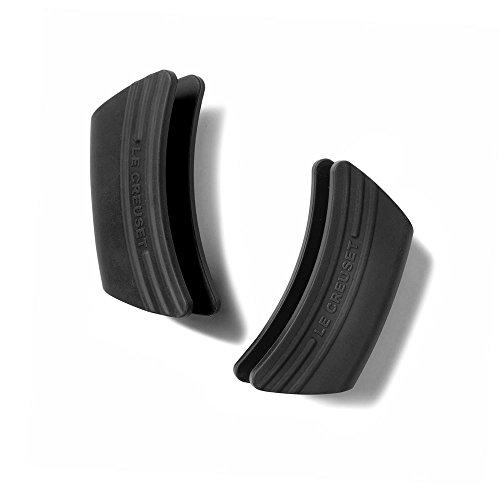 Le Creuset - Juego de 2 asas aislantes de silicona (negro)