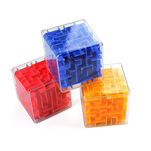 SAIrch Puzzle Early Educational Toys, 3D Maze Magic Cube, Transparent 3D Beads Labyrinth Marbles Magic Cube, Puzzle Game Labyrinth Ball Toys for Birthday Gifts Present