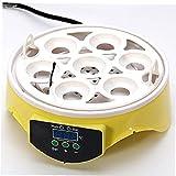 Mini Incubatrice Dell'uovo Temperatura Dell'incubatrice Controllo Automatico 7 Hole Design Egg Hatcher Automatico a Temperatura Controllata