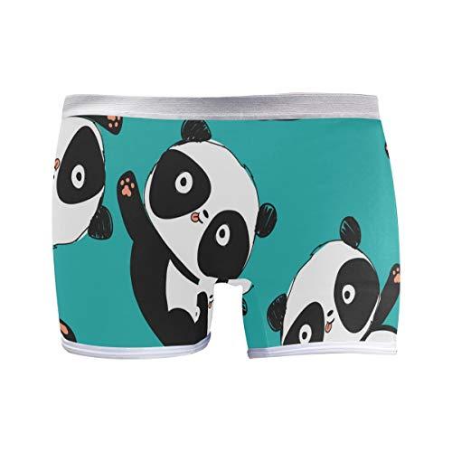 PUXUQU Damen Boxershorts Panties Süß Panda Muster Unterwäsche Unterhosen Pants