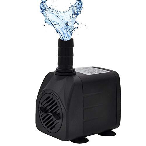 VENTDOUCE Bomba Sumergible Bomba de Agua de Fuente Ultra silenciosa 10W, 504L / H, para Acuario, pecera, Estanque, hidroponía, estatuario