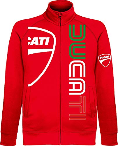 Generico Herren Sweatshirt Ducati, Rot Large