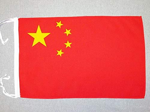 AZ FLAG Flagge China 45x30cm mit Kordel - CHINESISCHE Fahne 30 x 45 cm - flaggen Top Qualität