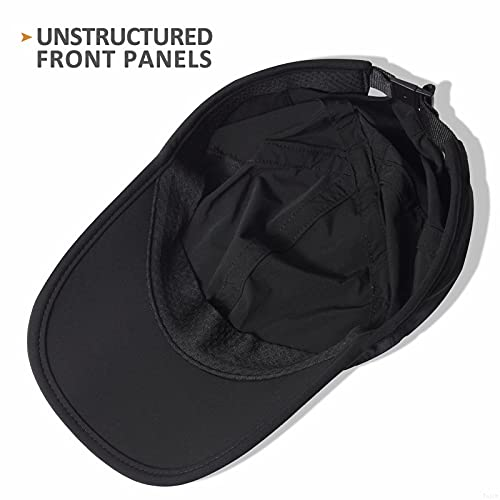 GADIEMKENSD Lightweight Waterproof Running Hat New Black