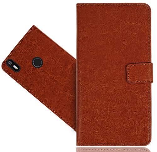 BQ Aquaris X/X Pro Handy Tasche, FoneExpert Wallet Hülle Cover Genuine Hüllen Etui Hülle Ledertasche Lederhülle Schutzhülle Für BQ Aquaris X/X Pro