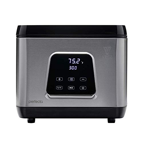 Sous Vide Water Oven by Vesta Precision - Perfecta | Powerful Pump Design | Accurate Temperature | Touch Panel or Wi-Fi App Control | Max/Min Water Level | 650 Watts | 10 Liter Capacity