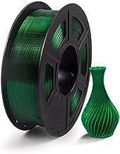 IEMAI PETG 3D Printer Filament Transparent Green, PETG Filament 1.75mm, Dimensional Accuracy +/- 0.02 mm, 1KG Spool for 3D Printer