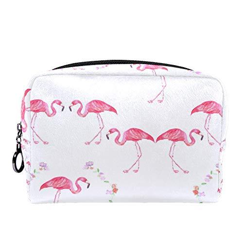 TIZORAX Flamingo met slinger make-up tas toilettas voor vrouwen huidverzorging cosmetische handige zak rits handtas