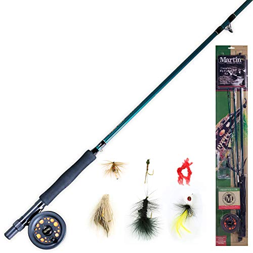 Martin Complete Fly Fishing Kit, 5/6 Rim-Control Fly Reel, Pre-spooled...