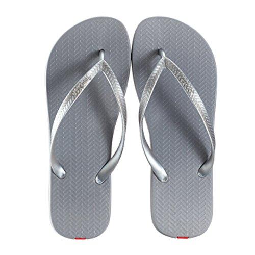 Casual Tongs Unisexe Plage Chaussons Anti-Slip Maison Slipper Gris
