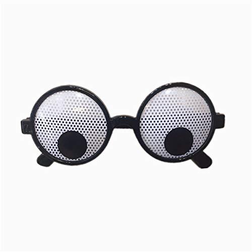 yhdcc44 Augen Brille Kunststoff Runde Partyartikel, Neuheit Schattierungen, Partyspielzeug, lustige Kostüm Brille Zubehör für Kinder & Erwachsene lustige Witz Spielzeug
