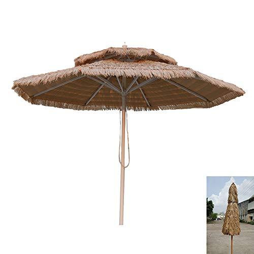 Parasol De De Paille De Plage, De Patio De Piscine De Jardin Parapluie De Jardin(Couleur Naturelle)(Pas De Base) GCDW