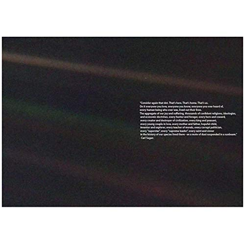 FACAIA Carl Sagan: Pôster com pontos azuis pálidos, impressões em tela, arte de parede, sala de estar, decoração de casa, 60 x 90 cm, sem moldura
