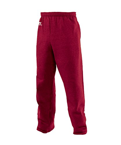 Russell Athletic Men's Dri-Power Fleece Open Bottom Sweatpants with Pockets, Cardinal, Small