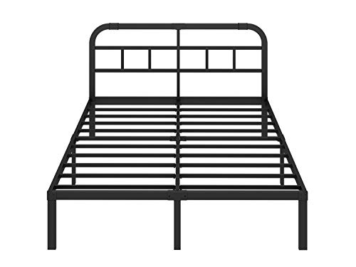 ZIYOO 14 inch Steel Slat Platform Bed Frame with Headboard,3000lbs Heavy Duty, Non-Slip Design, Strengthen Support Mattress Foundation, Quiet Noise Free, Cal King