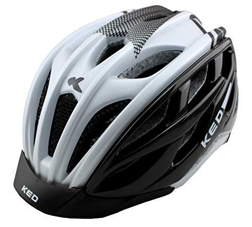 K-E-D Xant Fahrradhelm für Jugendliche und Erwachsene - Allround-Helm in robuster maxSHELL- Technologie, Quicksafe- und Quickstopp-System (SM (Kopfumfang 49-54 cm), White Black)