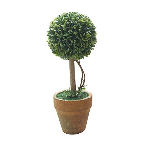 Homeofying Plante Artificielle en Pot avec cœur en Forme d'étoile Vert, C, Vert