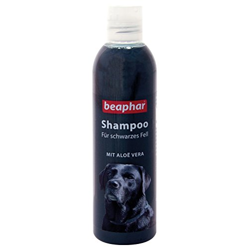 beaphar Hunde Shampoo für schwarzes Fell | pH neutrales Hundeshampoo | Hunde Shampoo mit Aloe Vera | Für Hunde mit schwarzem Fell | 250 ml