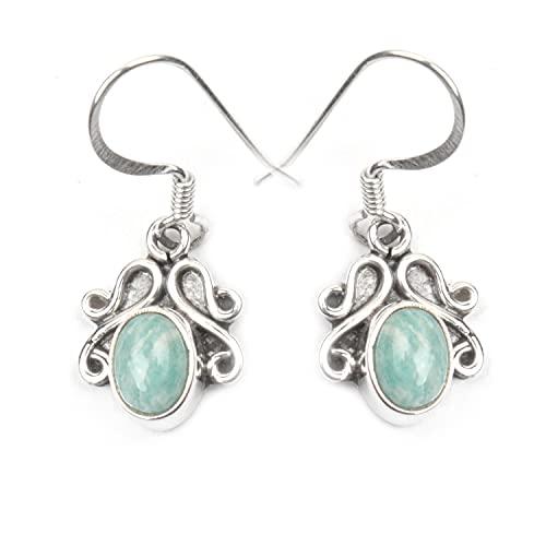 JingleJewelsCo - Pendientes de plata de ley 925 para mujer, ovalados y ovalados