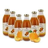 Zumo de Albaricoque Ecológico - Sin Azúcares Añadidos - 6 Botellas de 750ml
