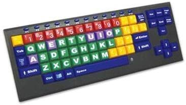 KinderBoard USB Wired Color Coded Computer Keyboard with Big Keys and Large Letters (Renewed)