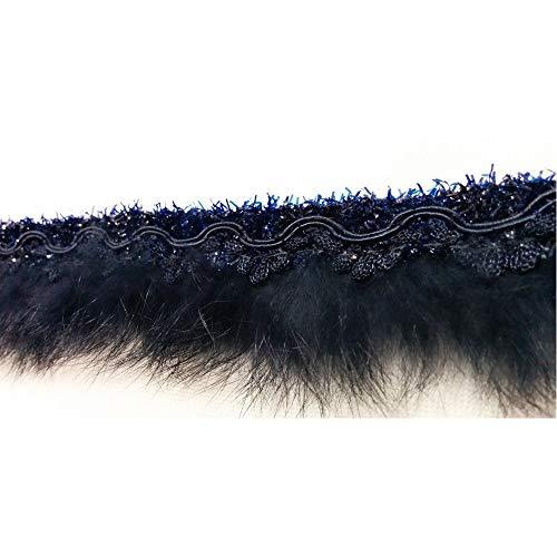 Borten spitze gearbeitet pelz lapin blau mit lurex-filamente, 4 cm hoch