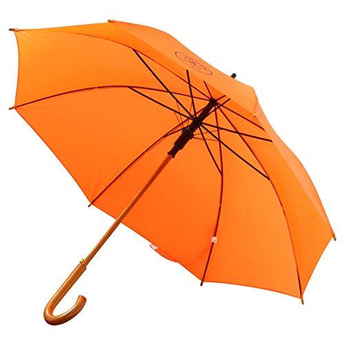 50 Stück Schirm Regenschirm Automatikstockschirm Stockschirm mit Druck Werbung 1-farbig