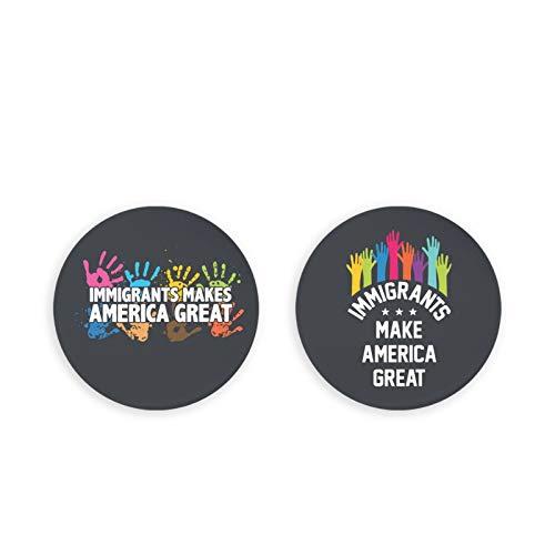 Bottle Openers/Fridge Magnets,Immigrants Make America Great Coke Bottle Wine Soda Openers Kitchen Magnet(2 Pcs)