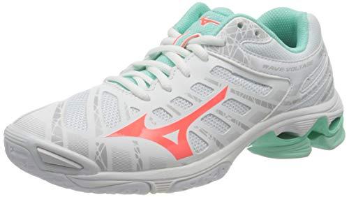 Mizuno Wave Voltage, Zapatillas de vleibol Mujer, Blanco Fierycoral2 Iceg, 38 EU