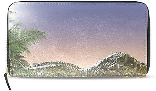 Keyboard cover Cartera de piel con cremallera y tarjetero para mujer, diseño de dinosaurios de la selva, U0026 One_color. Talla única