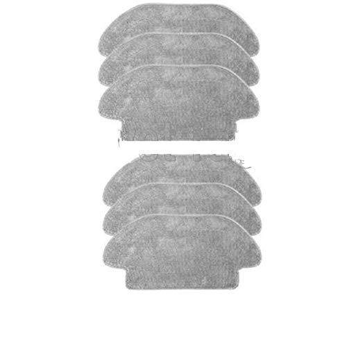 TSAUTOP Newest Für Xiao-mi Mi-JIA Wearing Mopping Roboter Staubsauger Styj02ym Ersatzteil Pack Kits Seitenwalze HEPA Filter Hauptbürste Mopp (Color : Wet rag 6pcs)