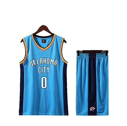 HAZYJT Camiseta para Hombre y Mujer - Oklahoma City Thunder # 0 Russell Westbrook, Sudadera sin Mangas Transpirable y Traje de pantalón